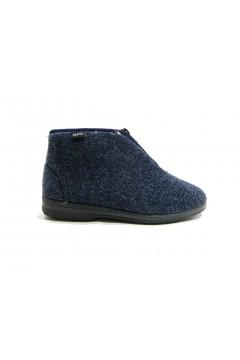 PLANTAS D382-31 Barnaba Scarpe Pantofole Unisex con Zip Blu Ciabatte e Infradito D38231
