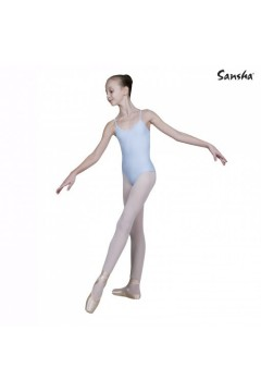 SANSHA E506 Angela Body Danza in Microfibra Celeste Body Danza SE506CL