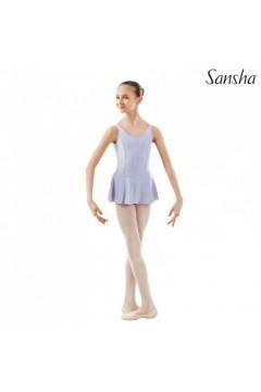 SANSHA E516M Fiona Body Danza con Gonnellino in Microfibra Tactel Lilla Body Danza SE516ML