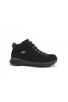 SKECHERS 12122 Scarpe Donna Sneakers Mid Nabuk Nero Francesine e Sneakers 12122BBK
