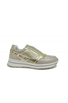 Queen Helena X20-23 Scarpe Donna Sneakers Slip On Beige Oro FRANCESINE E SNEAKERS X2023GOL