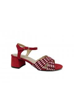 MARIAMARE 67337 Scarpe Donna Sandali Tacco Medio Suede Rosso Sandali MM67337RS