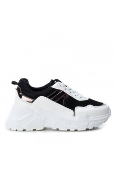 Refresh 69696 Scarpe Donna Sneakers Platform Stringate Bianco Nero Francesine e Sneakers R69696NR