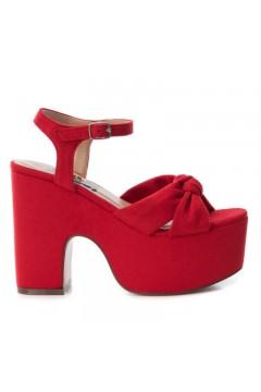 Refresh 69723 Sandali Donna Tacco Alto Platform Suede Rosso Sandali R69723ROS