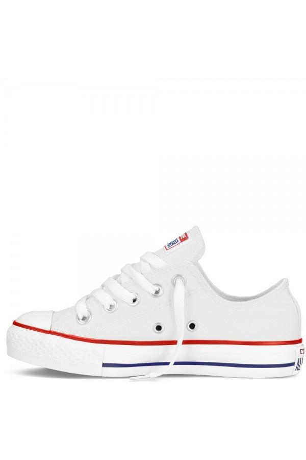 Converse 3J256C Scarpe Bambini Unisex Sneakers Low Canvas Bianco BAMBINA 3J256CBIA