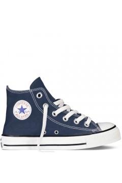 Converse 3J233C Scarpe Bambini Unisex Sneakers Mid Canvas Blu BAMBINA 3J233CBLU