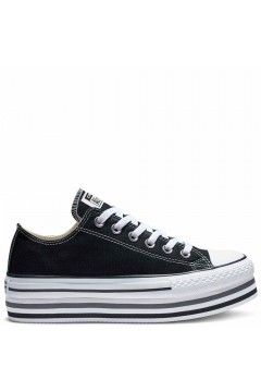 Converse 563970C Chuck Taylor All Star Sneakers Low Platform Canvas Nero FRANCESINE E SNEAKERS 563970C