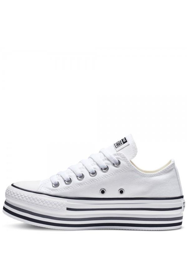 Converse 563971C Chuck Taylor All Star Sneakers Low Platform Canvas Bianco FRANCESINE E SNEAKERS 563971C