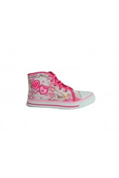 Canguro C60162 Scarpe Bambina Sneakers Mid con Lacci e Zip Fuxia Scarpe Bambina C60162FUX