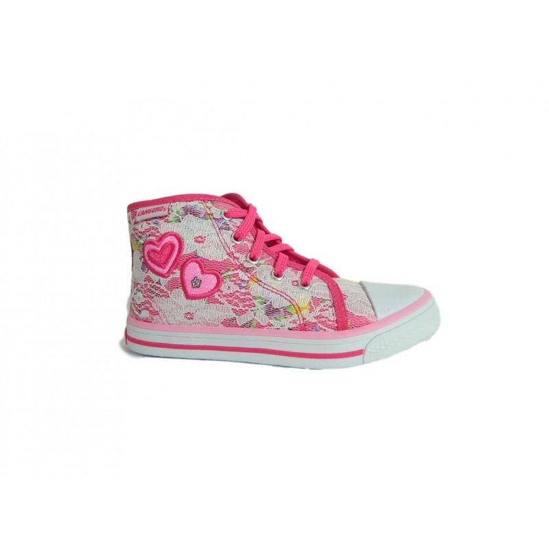 online retailer ce6cb e6f63 Canguro C60162 Scarpe Bambina Sneakers Mid con Lacci e Zip Fuxia