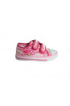 Canguro C60164 Scarpe Bambina Sneakers Low con Strappi Canvas Rosa Scarpe Bambina C60164ROS