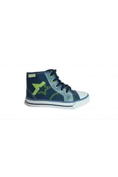 Canguro C60160 Scarpe Bambino Sneakers Mid in Tela Blu BAMBINO C60160BLU