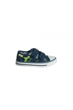 Canguro C60161 Scarpe Bambino Sneakers Low con Strappi in Tela Blu BAMBINO C60161BLU