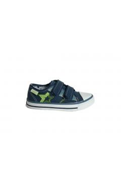 Canguro C60161 Scarpe Bambino Sneakers Low con Strappi in Tela Blu Scarpe Bambino C60161BLU