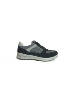 Grisport 43045 Scarpe Uomo Sneakers Slip On Camoscio Mesh Blu Casual 43045V25BLU