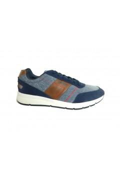 El Charro A1154 Scarpe Uomo Sneakers Stringate Blu Sneakers A1154BLU
