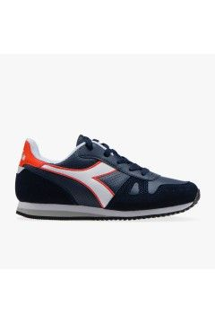 Diadora Simple Run Up GS Sneakers Running Stringate Blue Denim BAMBINO SIMPLERUNUPGSBD