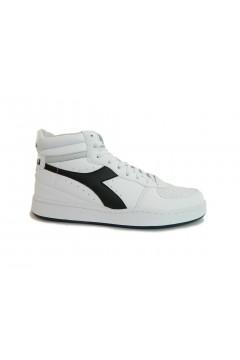 Diadora Playground High Scarpe Uomo Sneakers Mid Bianco Nero SPORT PLAYGHIGBNR