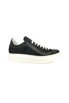 Interland 9026 Made in Italy Sneakers Uomo Stringate Oversize Vera Pelle Nero Sneakers I9026NR