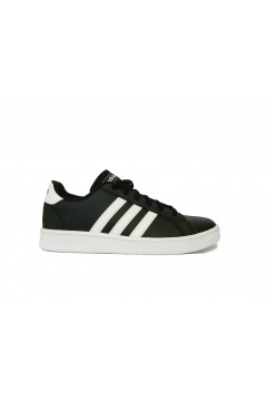 Adidas EF0102 Grand Court K Scarpe Ginnastica Tennis Black White Francesine e Sneakers EF0102
