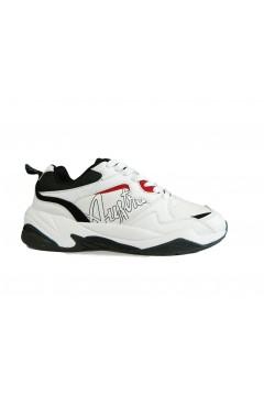 Australian AU749 Scarpe Uomo Sneakers Stringate Bianco Multicolor Sneakers AU749BNR