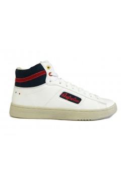 Australian AU599 Scarpe Uomo Sneakers Mid Stringate Bianco Sneakers AU599BIA