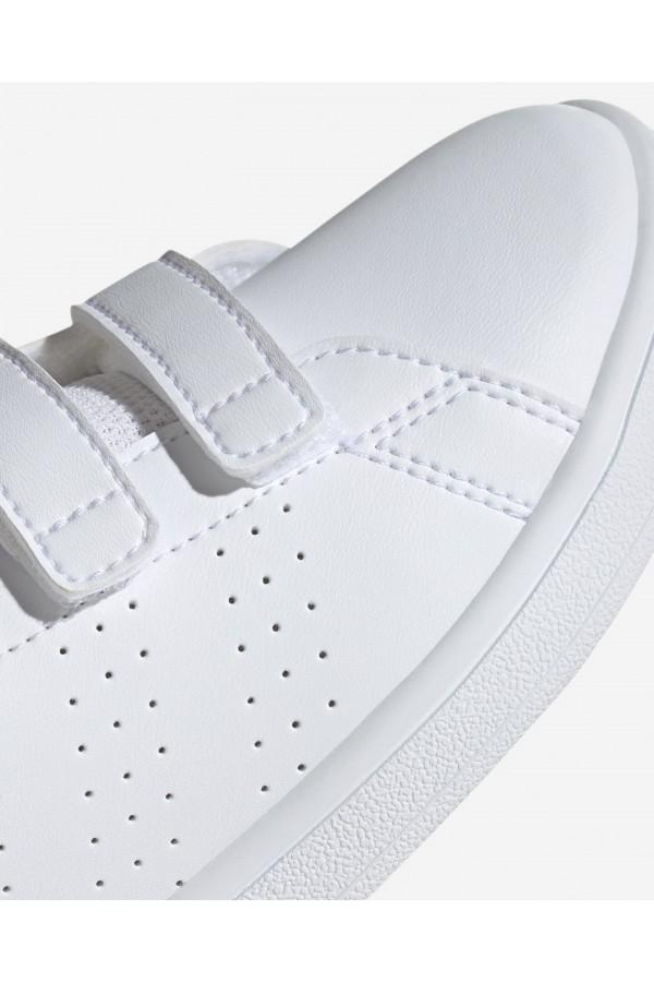ADIDAS EF0221 Advantage C Scarpe da Ginnastica con Strappi Bianco Fuxia Scarpe Bambina EF0221