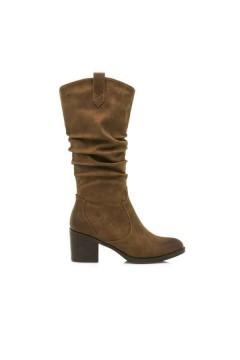MARIAMARE 62639 Scarpe Donna Stivali Texani Tacco Medio Cuoio Stivali  M62639TAN