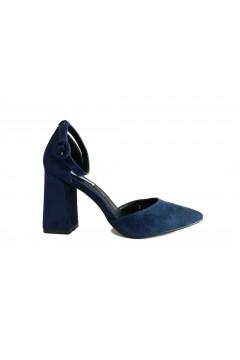 Queen Helena ZM5046 Scarpe Donna Tacco Alto con Cinturino Alla Caviglia Blu Decoltè ZM5046BLU