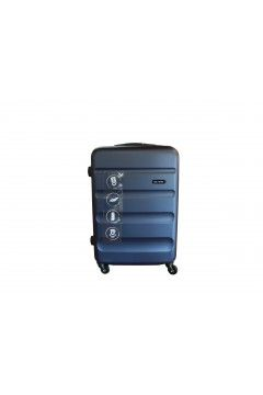 Roll Road FLEX 5849162 Trolley Cabina 55 cm 4 Ruote Rigido Blu Navy Trolley Rigidi 5849162MNAV