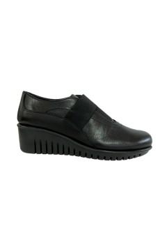 The Flexx E4019 11 Gibbous Scarpe Donna Mocassini Slip On in Vera Pelle Nero Francesine e Sneakers E401911NR