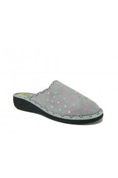 Patrizia 308 H Pantofole Donna in Panno Grigio Ciabatte e Infradito P308HGR