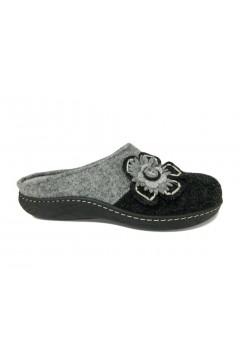 PLANTAS D638-95 Diamante Ciabatte Pantofole in Lana con Plantare Estraibile Grigio Ciabatte e Infradito D63895