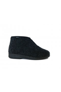 PLANTAS D382-17 Barnaba Scarpe Pantofole Unisex con Zip Antracite Ciabatte e Infradito D38217