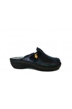 PLANTAS F830-10 Fiammetta Pantofole Sabot Donna con Plantare Estraibile Nero Multi Ciabatte e Infradito F83010
