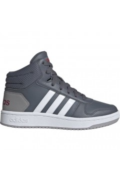 Adidas EE6709 HOOPS MID 2.0 K Scarpe Ginnastica Basket Grigio FRANCESINE E SNEAKERS EE6707