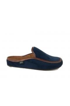 PLANTAS D376-30 New Barzio Ciabatte Pantofole da Camera Uomo Blu Ciabatte & Sandali D37630