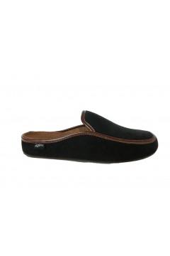 PLANTAS D376-10 New Barzio Ciabatte Pantofole da Camera Uomo Nero Ciabatte & Sandali D37610