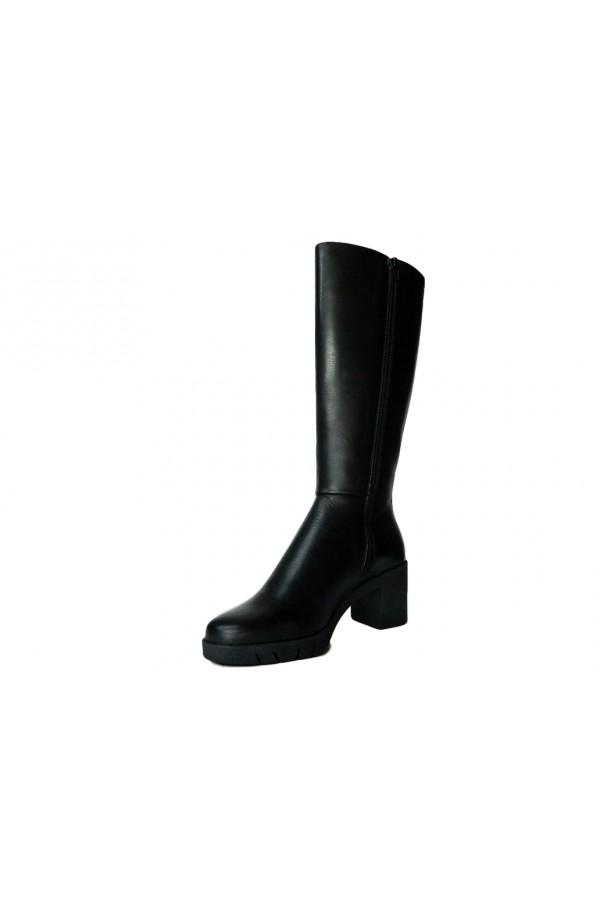 The Flexx D5503 23 Uplifting Scarpe Donna Stivali Tacco Medio in Vera Pelle Nero Stivali  D550323NR