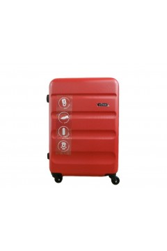Roll Road FLEX 5849164 Trolley Cabina 55 cm 4 Ruote Rigido Rosso Trolley Rigidi 5849164ROS