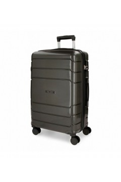 Roll Road FAST 5869162 Trolley Cabina 55 cm 4 Ruote Rigido Grigio Trolley Rigidi 5869162GRI