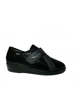 Inblu 03002D Pantofole Donna con Strappo in Panno Nero Ciabatte e Infradito 03002DNR