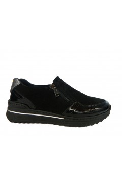 STILEDIVITA 7420 Sneakers Donna Slip On con Zip Ultra Soft Naplack Mix Nero Francesine e Sneakers SDV7420NNR
