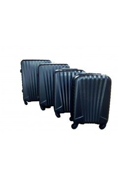 Coveri World CW808 Set Trolley Rigido 4 Pezzi 4 Ruote Blu Navy  Trolley Rigidi CW808SBN