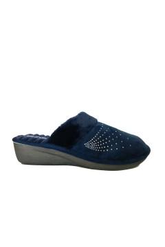 INBLU DC 14 Ciabatte Donna Pantofole in Panno Blu Ciabatte e Infradito DC14BLU