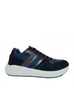 Enrico Coveri 923795 Bob Sd Velvet Sneakers Uomo Stringate Blu Sneakers EC923795BLU