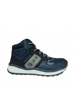 Navysail Navigare 927086 Scarpe Bambino Sneakers Mid Lacci e Zip Blu BAMBINO N927086BLU