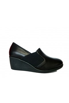 ICE Made in Italy 21XL Scarpe Donna Comfort Zeppa Media Vera Pelle Nero Mocassini e Ballerine I21XLNR