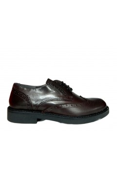 Adolfo Fantasia Made in Italy 18238 Scarpe Stringate Inglese in Vera Pelle Bordeaux Formale AF18238BRDX