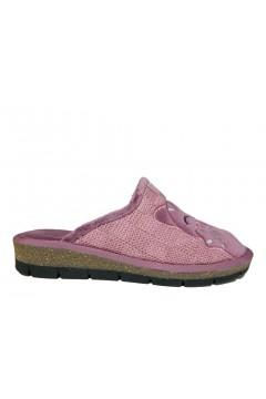 AXA 18492 Pantofole Donna Plantare Soft in Panno Cipria Ciabatte e Infradito 18492CIP